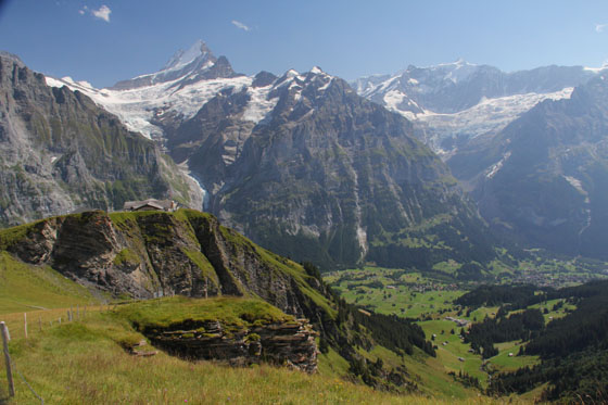 Grindelwald valley   viewed from First   August 2011