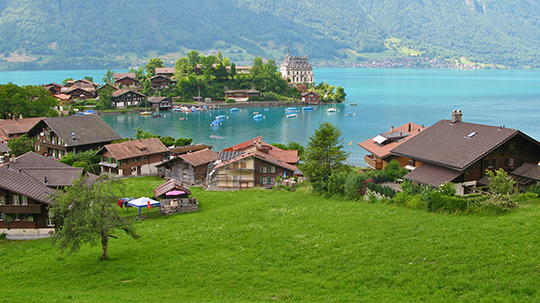 Iseltwald and its Seeburg Castle   Lake Brienz   June 2014