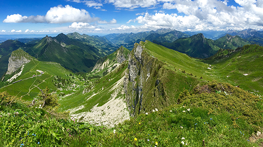 Looking towards the North East from the Rochers de Naye   June 2015