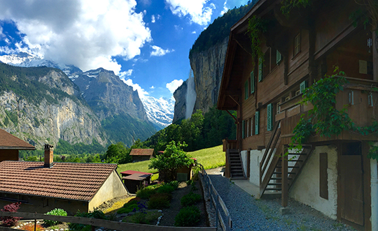 Staubbach Falls in Lauterbrunnen Valley   aka The Valley of 72 Waterfalls   June 2015