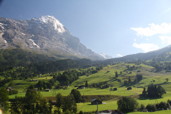 The Eiger viewed from Grindelwald   August 2011