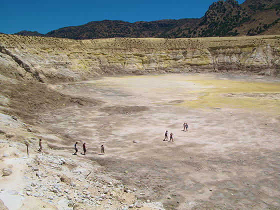 The main crater where most people hike down to
