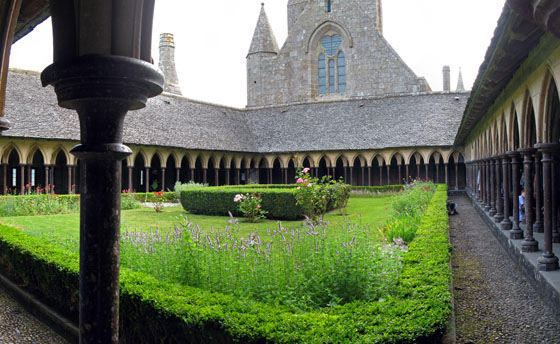 The Mont Saint Michel cloister
