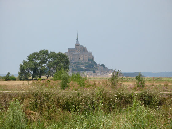 View from the parking area   At long last, cars were moved away from the bottom of the island in order to restore Mont Saint Michel�s maritime character