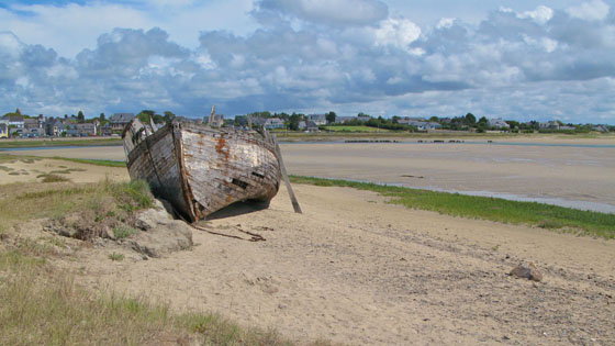 The harbor of Portbail at low tide