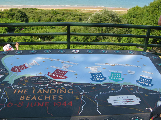 The landings beaches of Operation Overlord