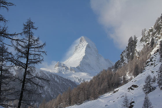 Zermatt in winter, Switzerland